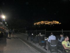 View of the Acropolis from Plaka