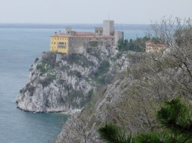 Castello di Duino, from afar