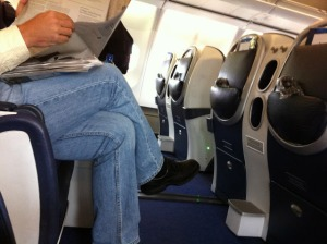 Plenty of leg room, even for the tall guy next to me!