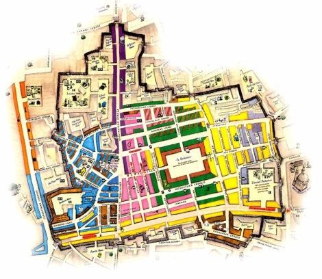 Grand Bazaar Map from http://www.grandbazaaristanbul.org/Large_Map_of_Grand_Bazaar.html