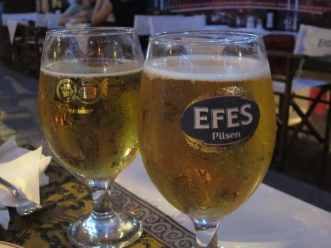 Efes - my favorite of the Turkish beers I tried