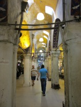 One of the many hallways inside the Grand Bazaar