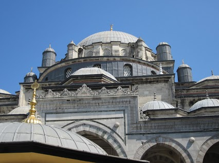 View of the top of the Mosque from inside the courtyard