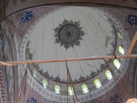 One of the domes in the Mosque
