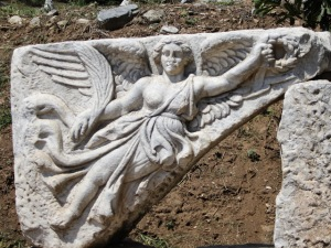 Carving of Nike, the Greek goddess of victory