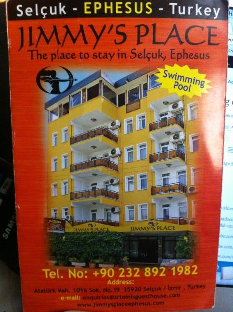 Jimmy's Place flyer