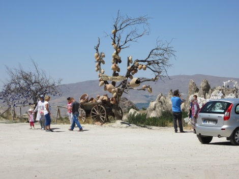 Apparently, in Cappadocia, pottery grows on trees!
