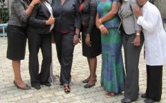 Professionally dressed women at a course in Nigeria
