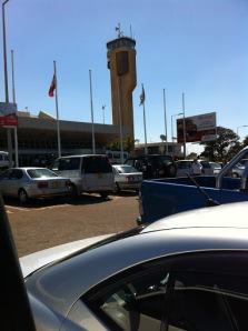 Outside Lilongwe International Airport