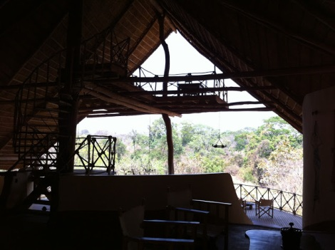 Another view of the upstairs dining area - reminds me of a treehouse!