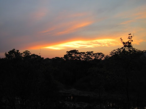 Sunset at the Tongole Wilderness Lodge