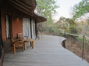 Our balcony - the perfect place for sunrise yoga!