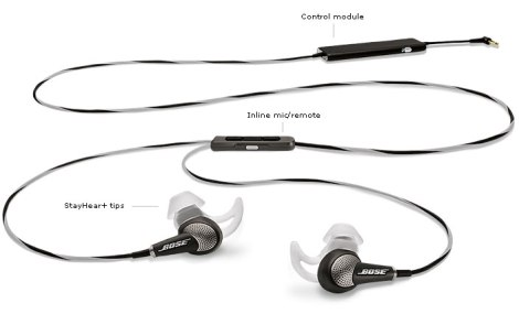 QuietComfort® 20i Acoustic Noise Cancelling® headphones (image from Bose.com)